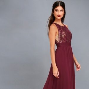Lulu's Forever and Always Maxi Dress
